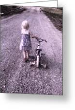 As I Travel This Road All Alone Greeting Card by Trisha Scrivner
