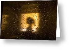 As Seen Through A Shower Door, A Girl Greeting Card