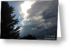 As The Clouds Move Across The Sky Greeting Card