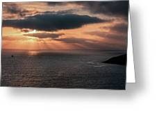 As The Day Ends Greeting Card