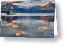 As The Day Ends At West Glacier Greeting Card