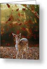 As The Leaves Fall - Painting Greeting Card