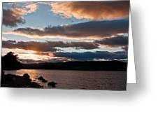 As The Sun Sets Over Loch Rannoch Greeting Card