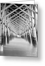 As The Water Fades Grayscale Greeting Card
