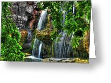 As The Water Falls Greeting Card