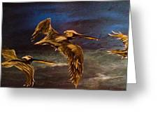 As We Fly Greeting Card