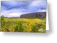 Asbyrgi Canyon Greeting Card