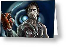 Ash Williams Greeting Card by Vinny John Usuriello