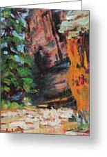 Ashdown Gorge Of Zion Greeting Card