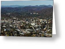Asheville, City, Downtown, Nc, North Carolina, Mountains, Mountains, Real Estate, Blue Ridge Mountai Greeting Card