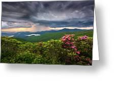 Asheville North Carolina Blue Ridge Parkway Thunderstorm Scenic Mountains Landscape Photography Greeting Card