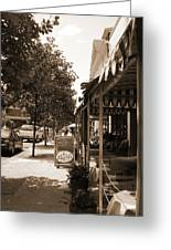 Asheville Street Greeting Card by Utopia Concepts