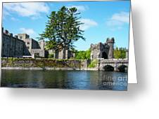 Ashford Castle And Cong River Greeting Card