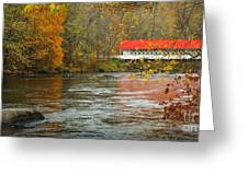 Ashuelot Bridge Greeting Card by Jon Holiday