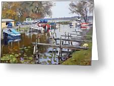 Ashville Bay Marina Greeting Card