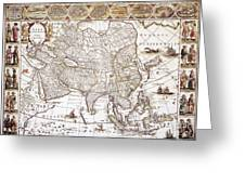 Asia: Map, C1618 Greeting Card