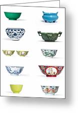 Asian Art Chinese Pottery Greeting Card