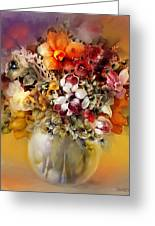 Asian Flowers Greeting Card