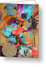 Asian Orchid Abstract Greeting Card
