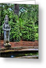 Asian Statue Jefferson Island  Greeting Card