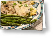 Asparagus And Stroganoff Greeting Card
