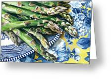 Asparagus Greeting Card by Nadi Spencer