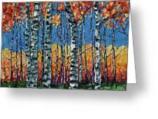 Aspen Grove By Olena Art Greeting Card