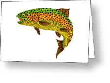 Aspen Leaf Rainbow Trout 1 Greeting Card