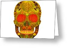 Aspen Leaf Skull 12 Greeting Card