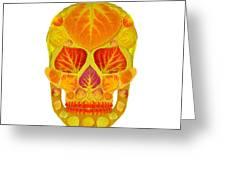 Aspen Leaf Skull 13 Greeting Card