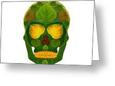 Aspen Leaf Skull 9 Greeting Card