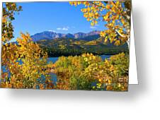 Aspen On Pikes Peak And Crystal Reservoir Greeting Card