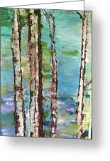 Aspen Spring Trees Greeting Card