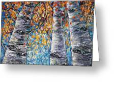 Aspen Trees  Greeting Card