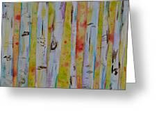 Aspens Abstract II Greeting Card
