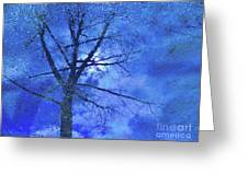 Asphalt-tree Abstract Refection 02 Greeting Card