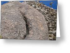 Ass Rock New Mexico Greeting Card