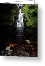Assaranca Waterfall Greeting Card
