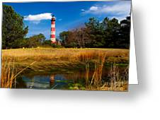 Assateague Lighthouse Reflection Greeting Card