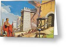 Assault On Carthage Greeting Card