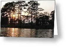 Assawoman Sunset Greeting Card