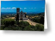 Assisi-basilica Di San Francesco Greeting Card