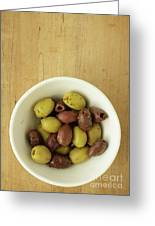 Assorted Greek Olives  Greeting Card