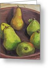 Assorted Pears Greeting Card