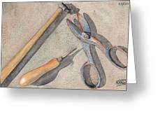 Assorted Tools Greeting Card