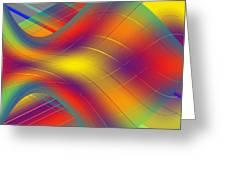 Assymetric Flow Greeting Card