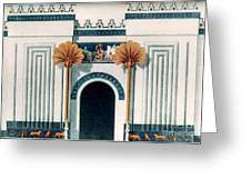 Assyrian Temple Greeting Card