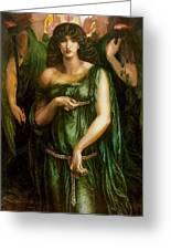Astarte Syriaca Dante Gabriel Rossetti Greeting Card