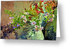 Aster Wildflowers Greeting Card