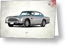 Aston Martin Db5 Greeting Card